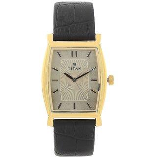 Titan Quartz Grey Tonneau Men Watch 1530YL02