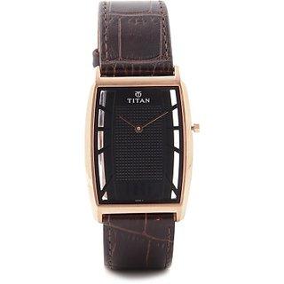 Titan Quartz Black Dial Mens Watch-1575WL01