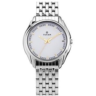 Titan Quartz White Dial Mens Watch-1578SM05