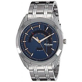 Titan Quartz Blue Round Men Watch 1582SM03