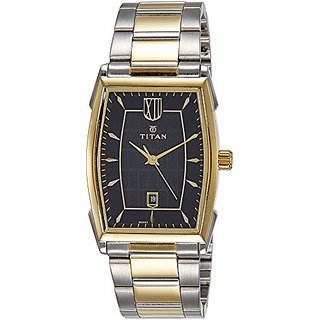 Titan Automatic Black Oval Men Watch 1692BM02