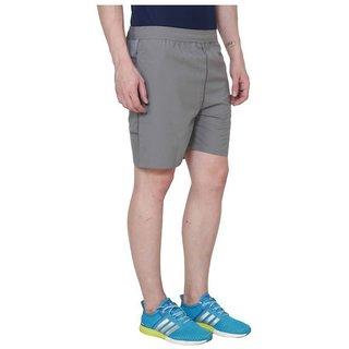 Adidas Grey Polyester Lycra Shorts