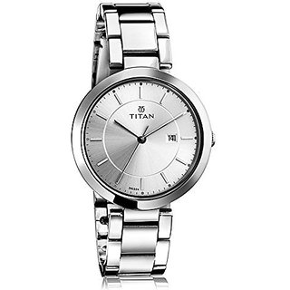 Titan Quartz White Dial Women Watch-2480SM07