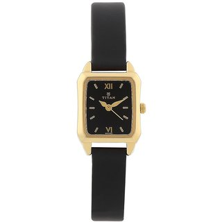Titan Quartz Black Rectangle Women Watch 2488YL03