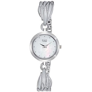 Titan Quartz Silver Dial Women Watch-2540SM02