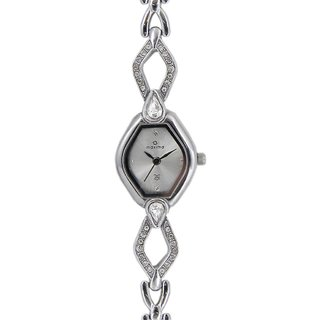 Maxima Quartz Silver Oval Women Watch 27641BMLI