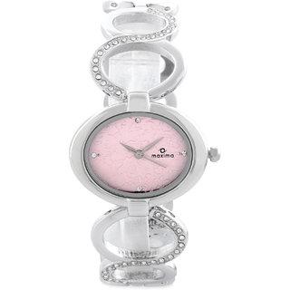 Maxima Quartz Pink Square Women Watch 28272BMLI