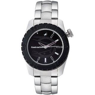 f72ed0510 Buy Fastrack Quartz Black Round Men Watch 3006SM02 Online   ₹2495 ...