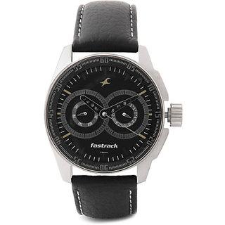 fe19cacae Buy Fastrack Quartz Black Round Men Watch 3089SL02 Online - Get 6% Off