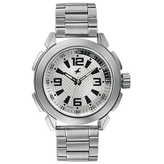 Fastrack Quartz Silver Round Men Watch 3130SM01