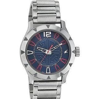 Fastrack Quartz Blue Round Men Watch 3139SM02