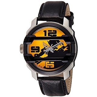 Fastrack Quartz Yellow Dial Mens Watch-3153KL02