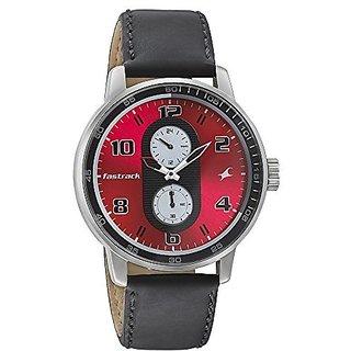 Fastrack Quartz Black Dial Mens Watch-3159SL01