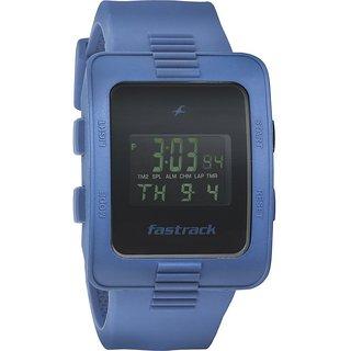 Fastrack Quartz Black Square Men Watch 38009PP02