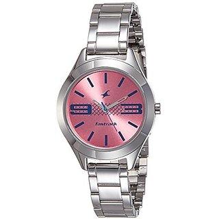 Fastrack Quartz Pink Dial Women Watch-6153SM02