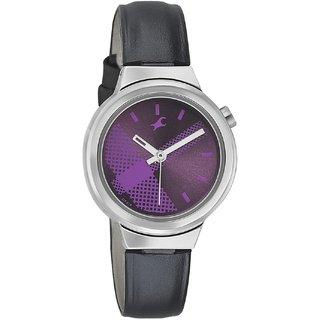 Fastrack Quartz Purple Round Women Watch 6149SL01