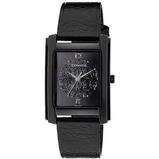 Sonata Quartz Black Dial Mens Watch-7953NL01