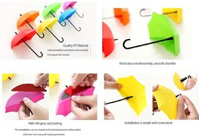 Umbrella Shape Clothes Key Hat Holder Wall Hook Colorful Home Decoration Shelves Hanger Rack 3PCS/set