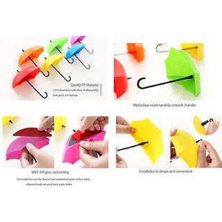 Umbrella Shape Clothes Key Hat Holder Wall Hook Colorful Home Decoration Shelves Hanger Rack 3PCS/set