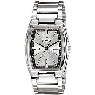 Sonata Quartz Silver Dial Mens Watch-7998SM02