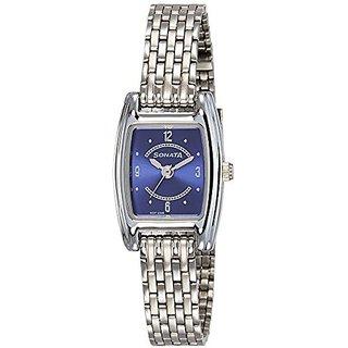 Sonata Quartz Blue Dial Women Watch-8103SM01