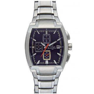 Titan Quartz Black Dial Mens Watch-9208SM02
