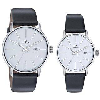 Titan Quartz White Dial Mens Watch-93999837SL01
