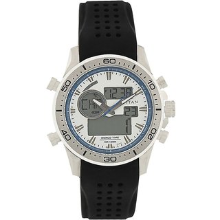 Titan Quartz White Round Men Watch 9455sp03