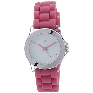 buy fastrack women silicon analogue watch 9827pp07 online
