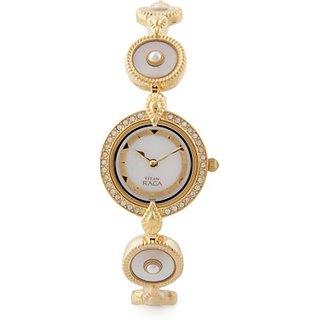 Titan Quartz White Dial Women Watch-9903ym02