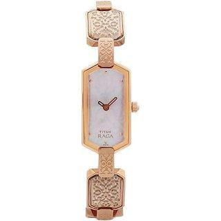Titan Quartz White Dial Women Watch-9906WM01