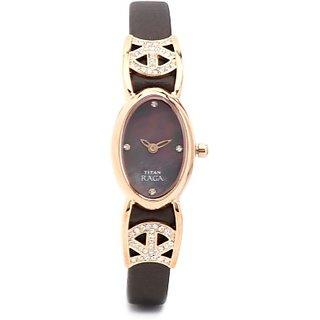 Titan Quartz Brown Dial Women Watch-9933WL01