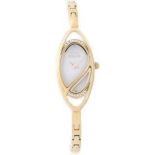 Titan Quartz White Dial Women Watch-9935YM01