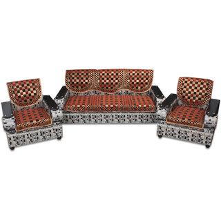 Premium Furnishing Pure Velvet 5 Seater sofa Cover In Maroon Colour(pfscssc011)