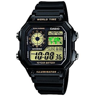 Casio Youth Digital Black Dial Mens Watch   Ae 1200Wh 1Bvdf  D098  Men Watches