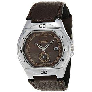 Timex Quartz Brown Dial Mens Watch-EL02