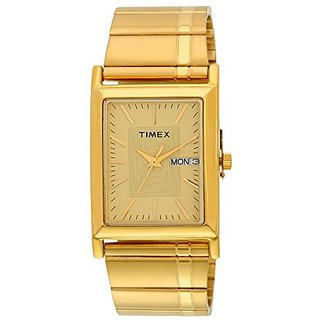 Timex Quartz Gold Dial Mens Watch-L501