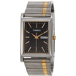 Timex Quartz Black Dial Mens Watch-L502