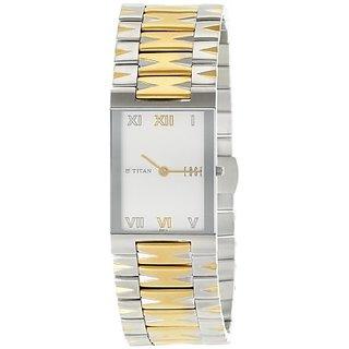 Titan Quartz White Rectangle Men Watch NE1296BM01