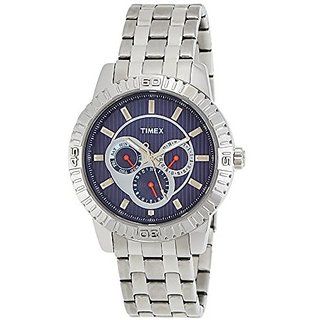 Timex Quartz Blue Dial Mens Watch-TI000Q30000