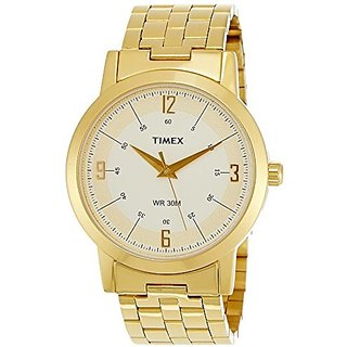 Timex Quartz White Dial Mens Watch-TI000T10200