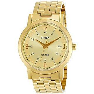 Timex Quartz Gold Round Men Watch TI000T10300