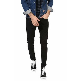 CULTURE   Black  SKINNY FIT JEANS  For Men
