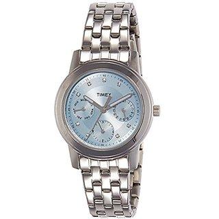Timex Quartz Blue Dial Women Watch-TI000W10200