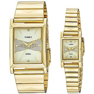 Timex Quartz Beige Dial Mens Watch-TI00PR17400