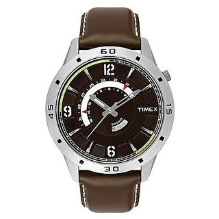 Timex Quartz Brown Dial Mens Watch-TW000U910