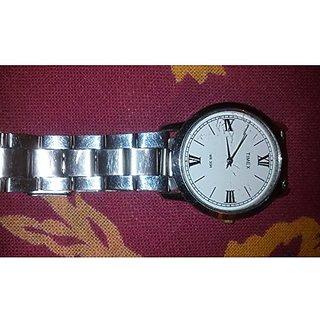 Timex Quartz White Dial Mens Watch-TW000X110