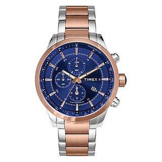 Timex Quartz Blue Dial Mens Watch-TW000Y415