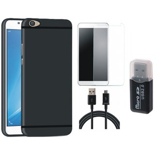 Samsung C9 Pro Premium Quality Cover with Memory Card Reader, Tempered Glass and USB Cable