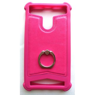 Universal Pink Color Vimkart mobile wallet Flip cover case, guard, protector for 5 inch mobile Tecno